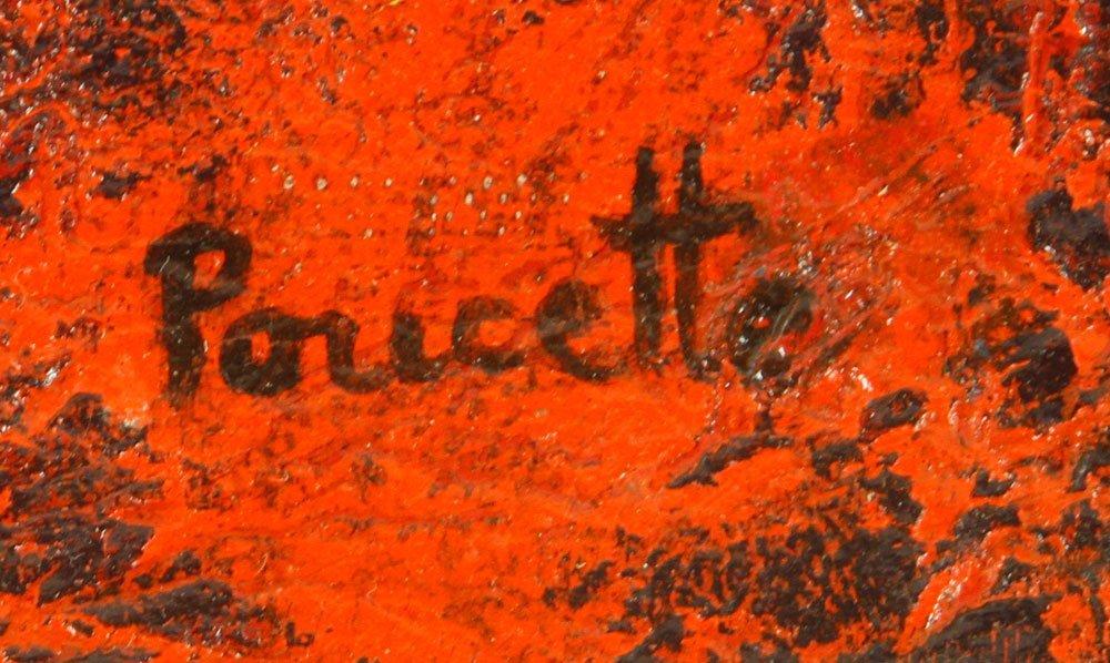Poucette, La Lion, Oil on Canvas - 5