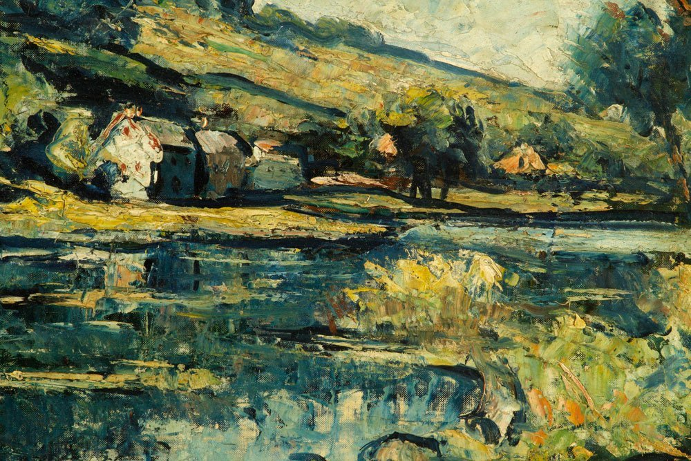 Fisher, Cottage Scene, Oil on Canvas Board - 2