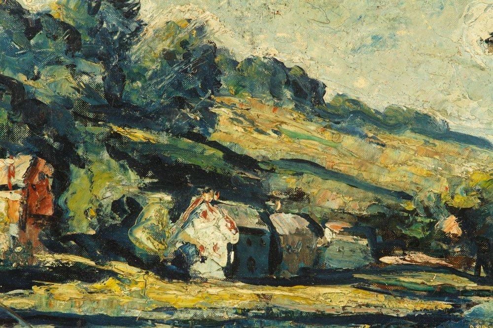 Fisher, Cottage Scene, Oil on Canvas Board - 3