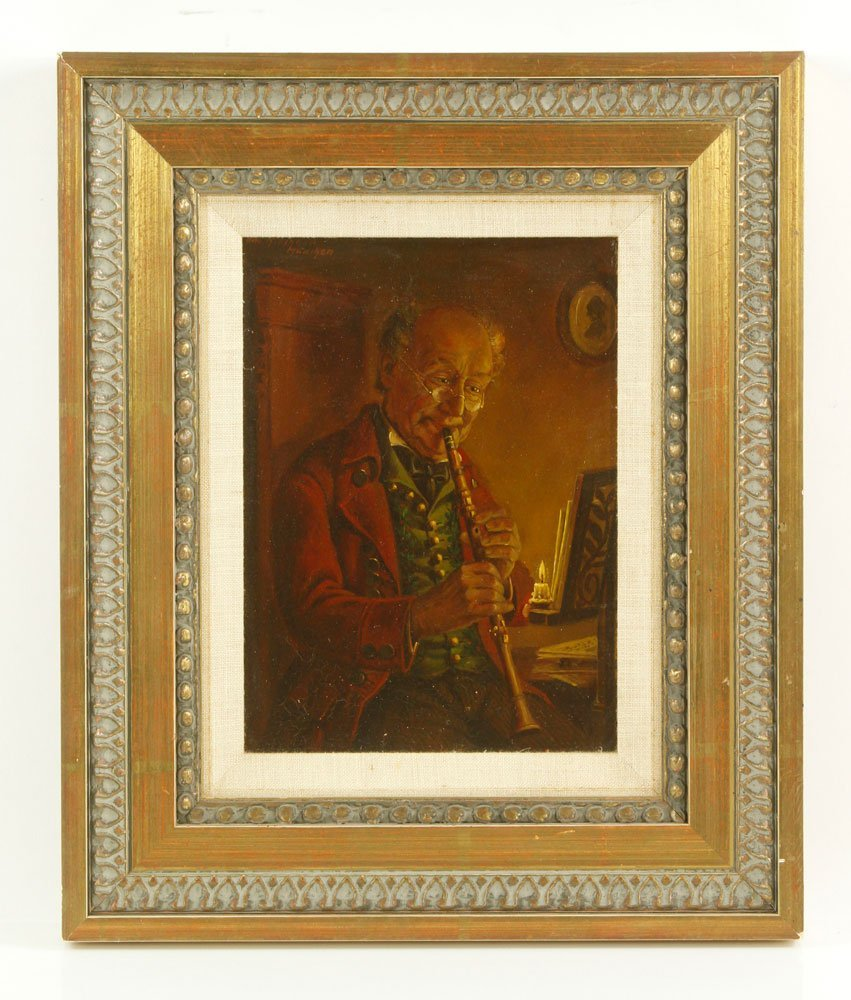 Flute Player, Oil on Canvas