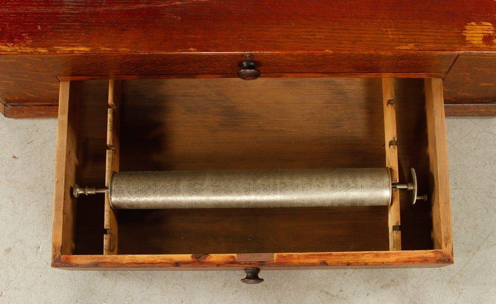 Oak Box with 5 Music Box Cylinders - 4