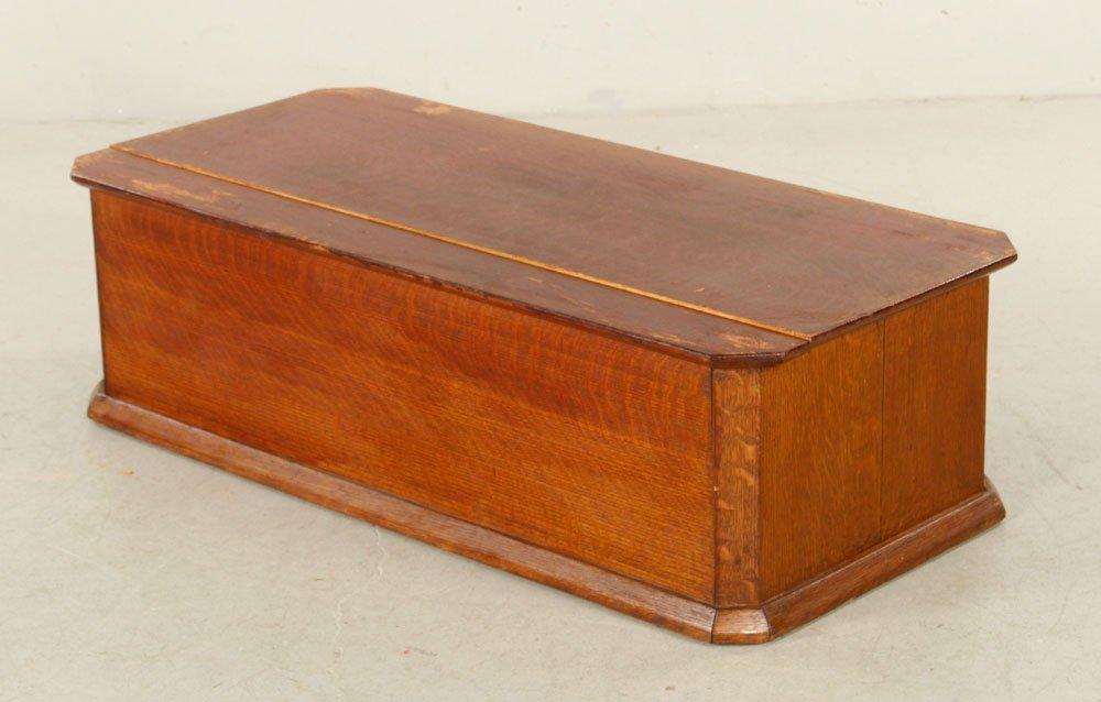 Oak Box with 5 Music Box Cylinders - 5