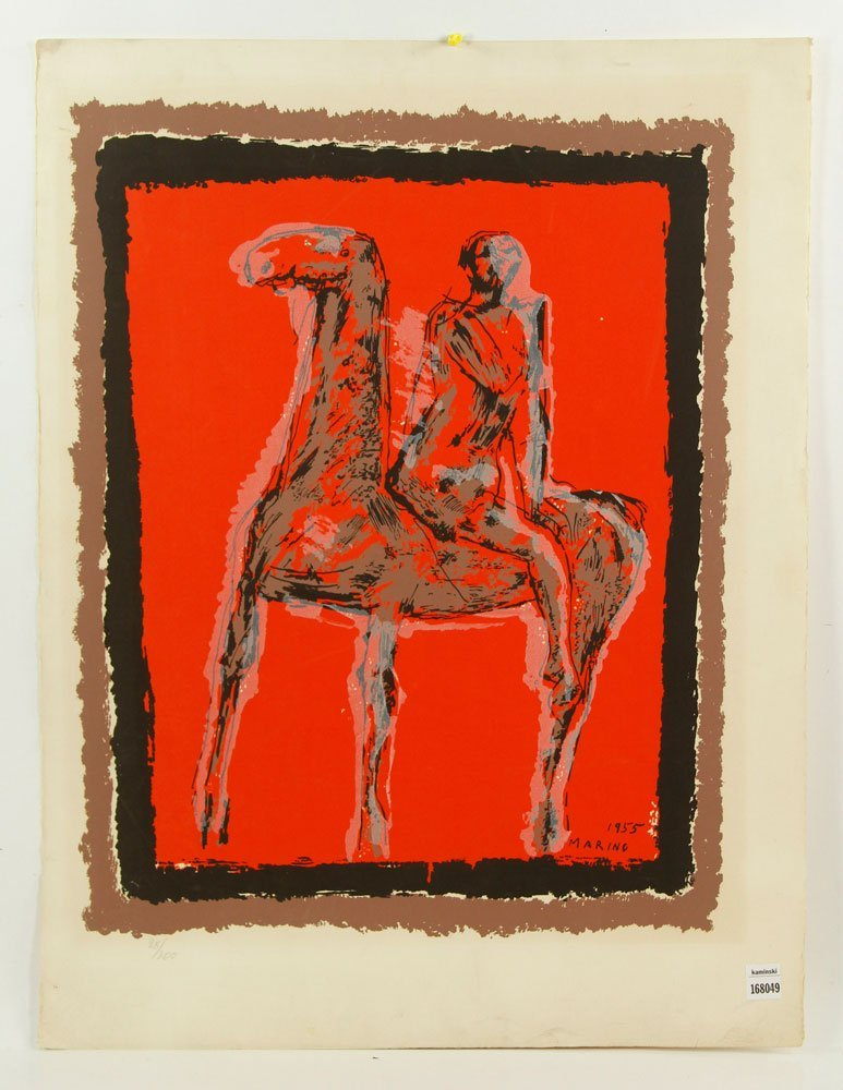 Marino, Abstract Equestrian, Serigraph
