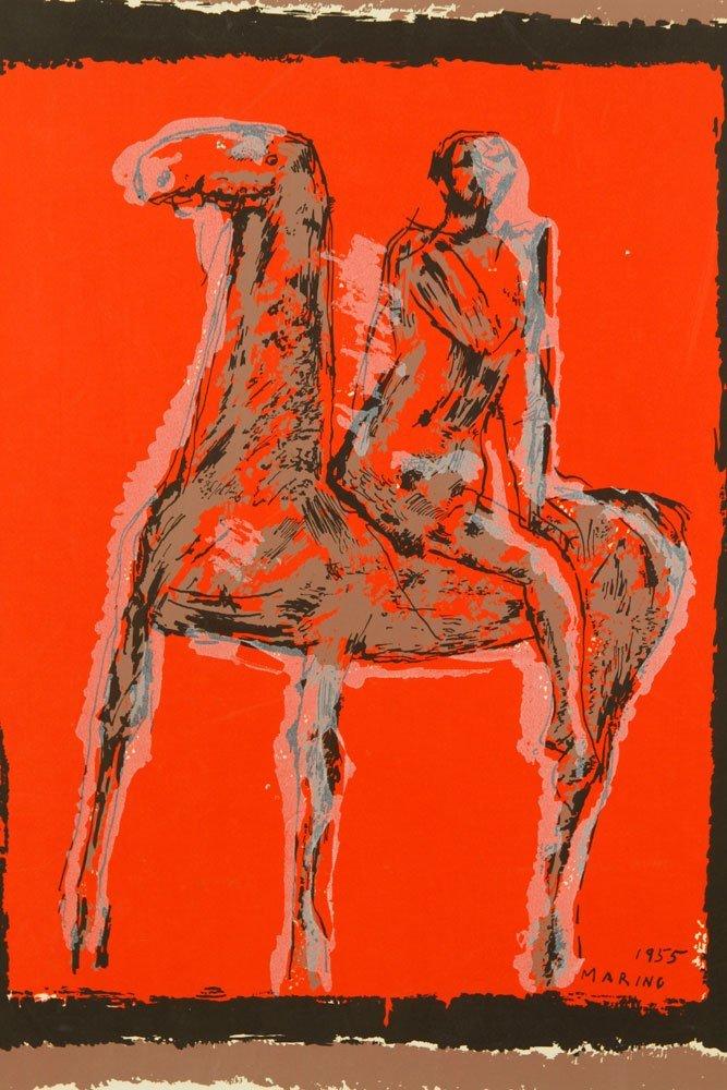 Marino, Abstract Equestrian, Serigraph - 2