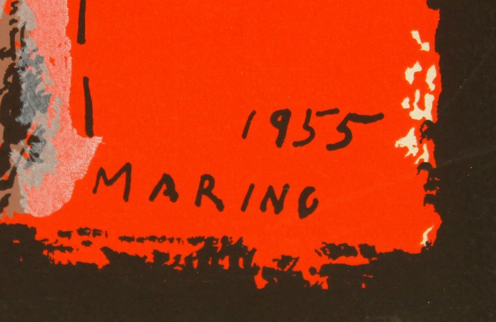 Marino, Abstract Equestrian, Serigraph - 3