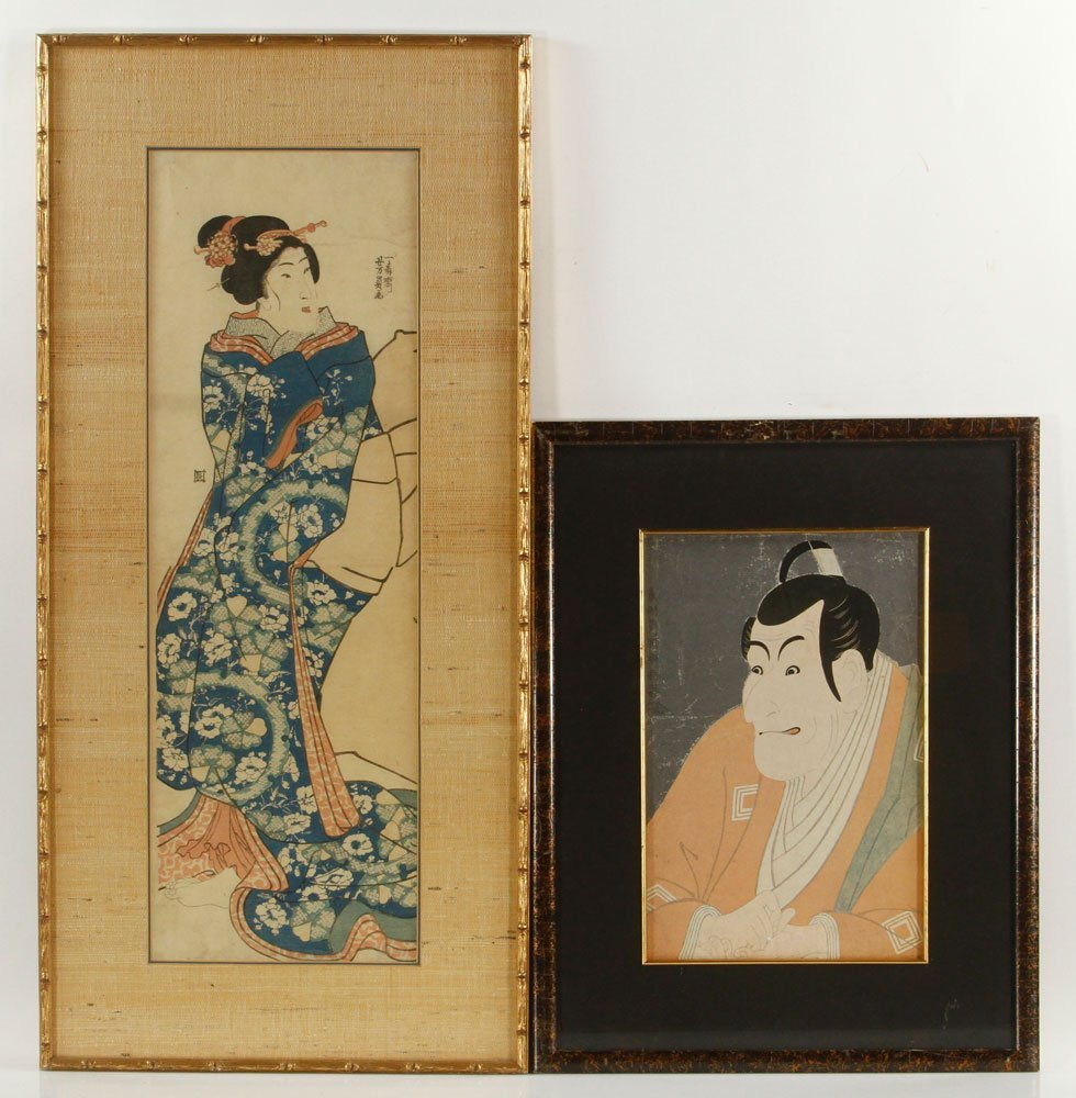 Two Japanese Wood Block Prints