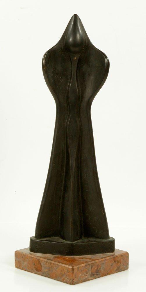 Modern Cast Bronze Sculpture