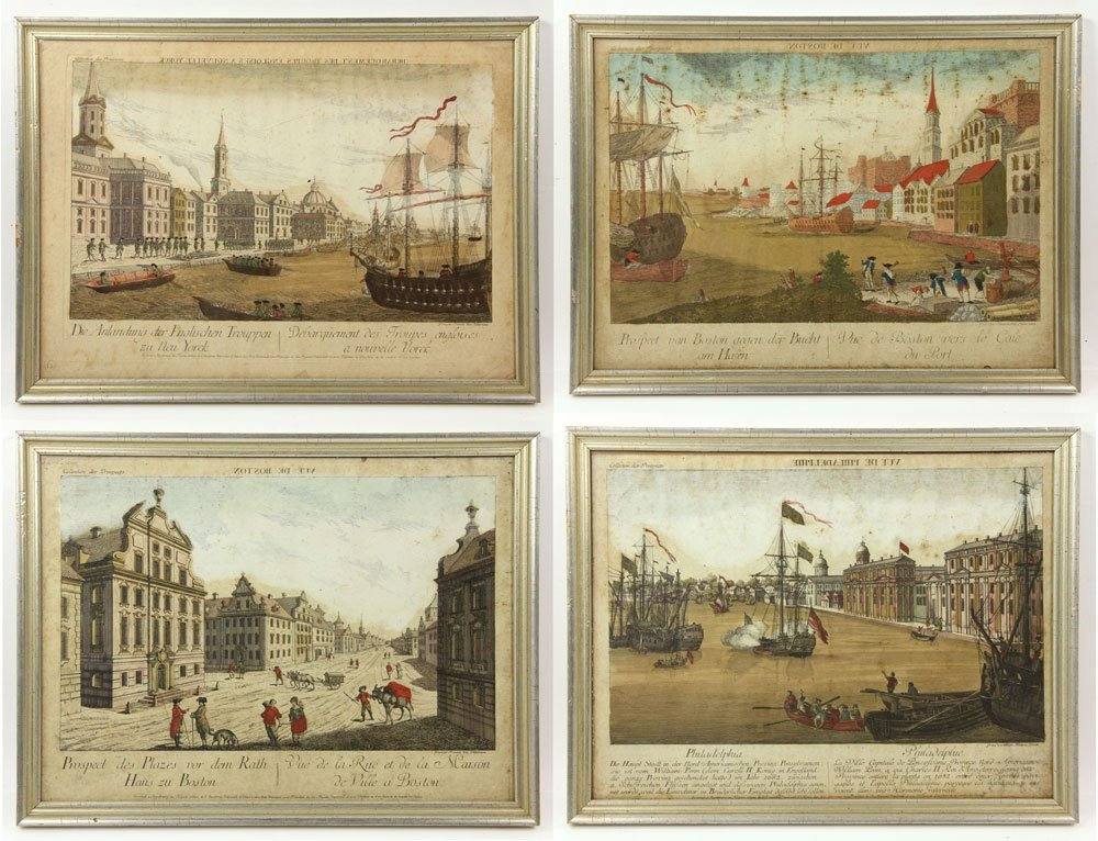 Group of Four 18th C. Geographical Prints