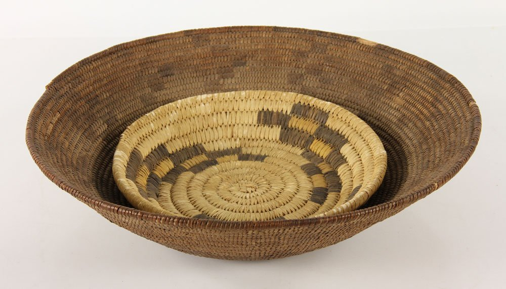 2 Woven Navajo Baskets