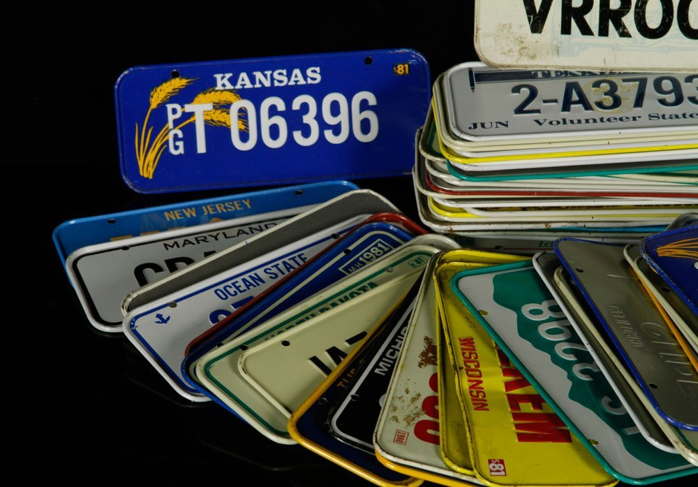 65 Bicycle License Plates - 2