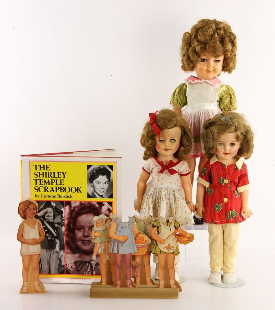 Lot of Shirley Temple Dolls and Accessories