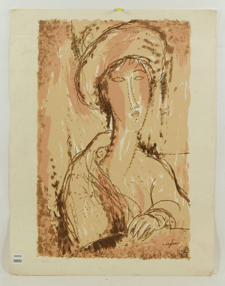 Modigliani, Abstract Portrait, Print