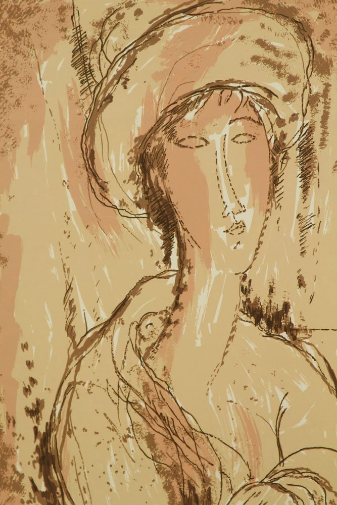 Modigliani, Abstract Portrait, Print - 2