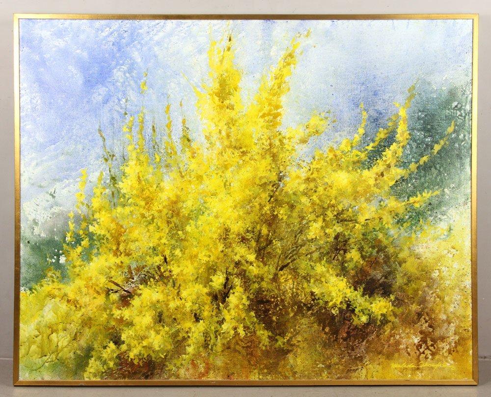 "Thompson, ""Joy of Spring,"" Oil on Canvas"