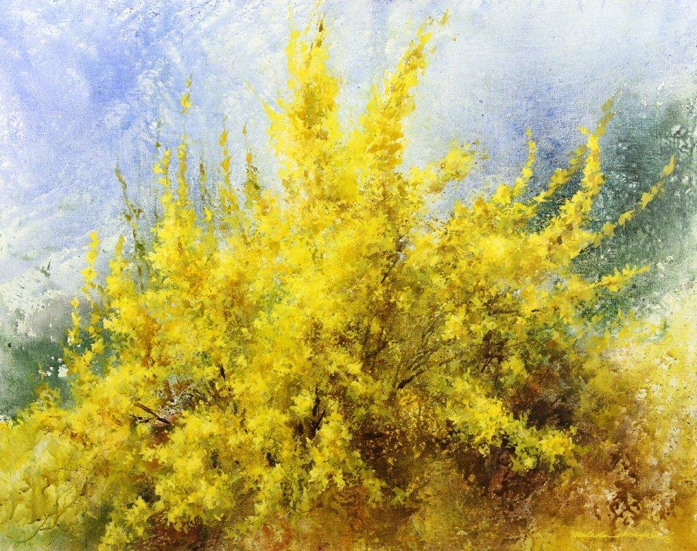 "Thompson, ""Joy of Spring,"" Oil on Canvas - 2"