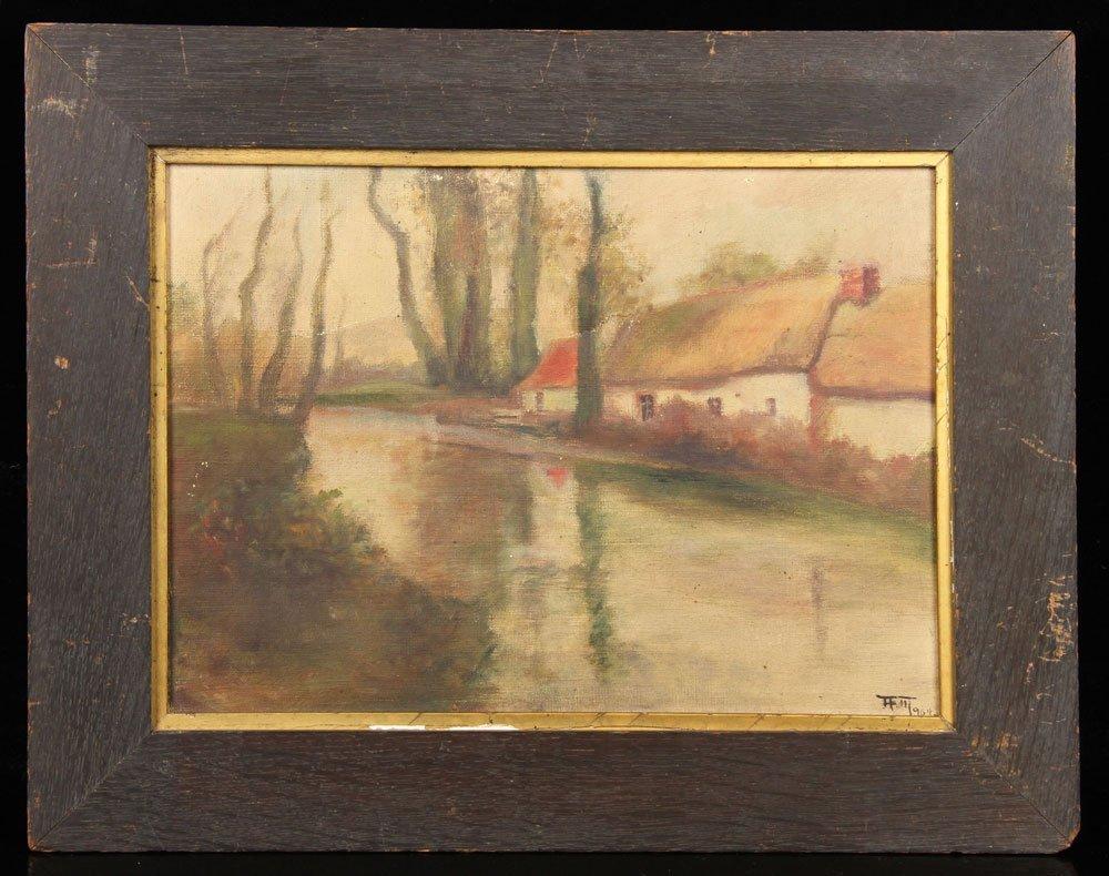 Attr. Halow, Continental Domestic Scene, Oil on Canvas
