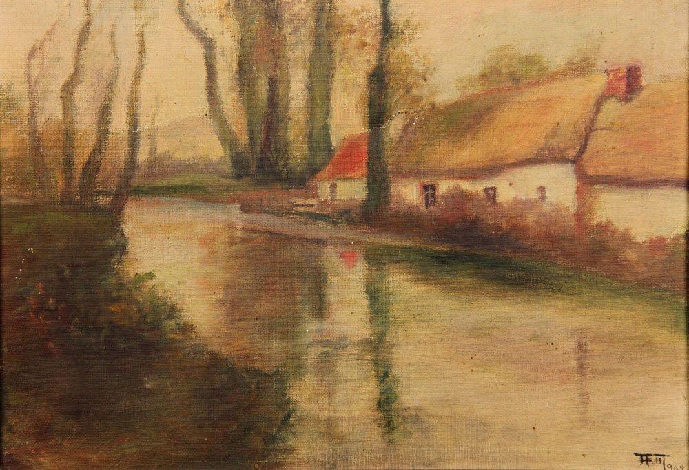 Attr. Halow, Continental Domestic Scene, Oil on Canvas - 2
