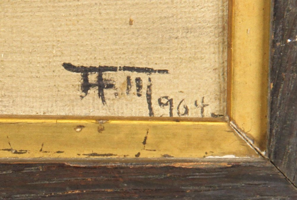 Attr. Halow, Continental Domestic Scene, Oil on Canvas - 3