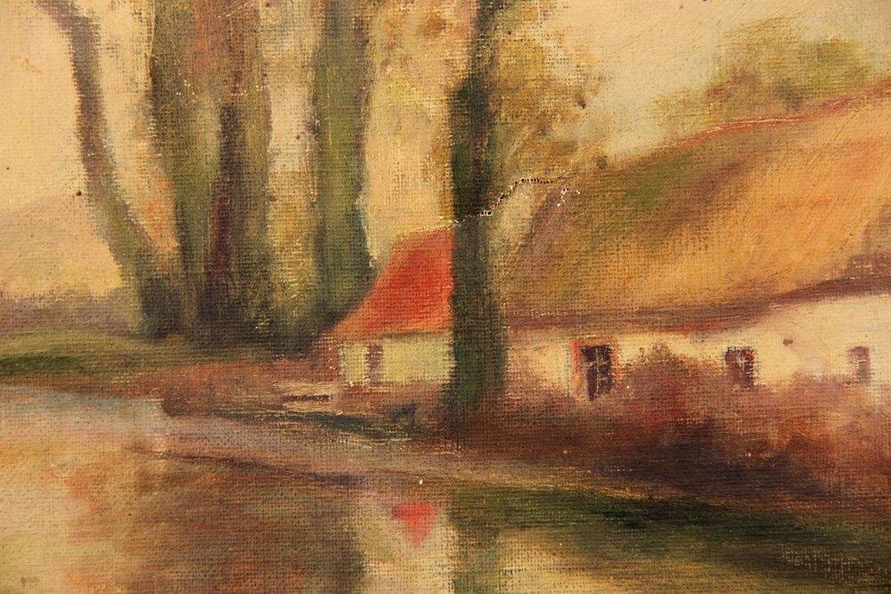 Attr. Halow, Continental Domestic Scene, Oil on Canvas - 4