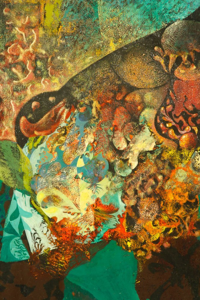 Scheurger & Perkins, Abstract Coral, Acrylic on Board - 2