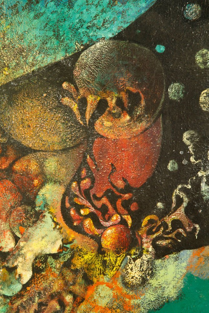 Scheurger & Perkins, Abstract Coral, Acrylic on Board - 3
