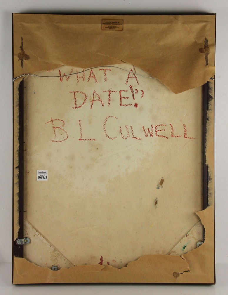 "Gulwell, ""What a Date,"" Acrylic on Masonite - 6"