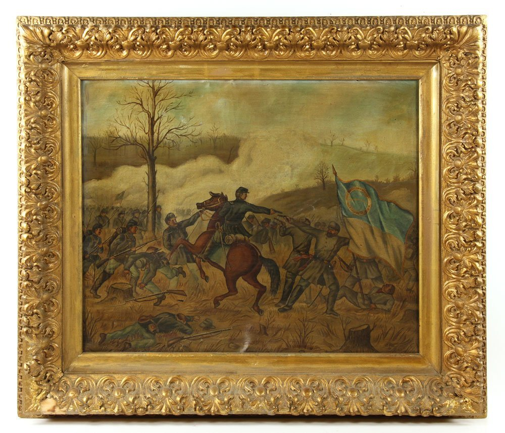 Civil War Battle, Oil on Canvas - 2