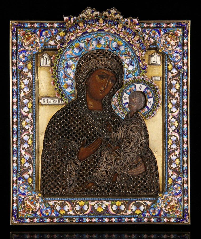 Elaborate 19th C. Russian Icon