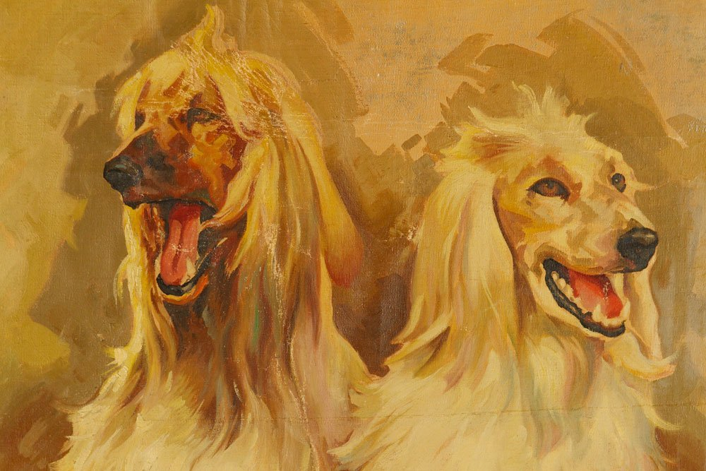 Two Hounds, Oil on Canvas - 2