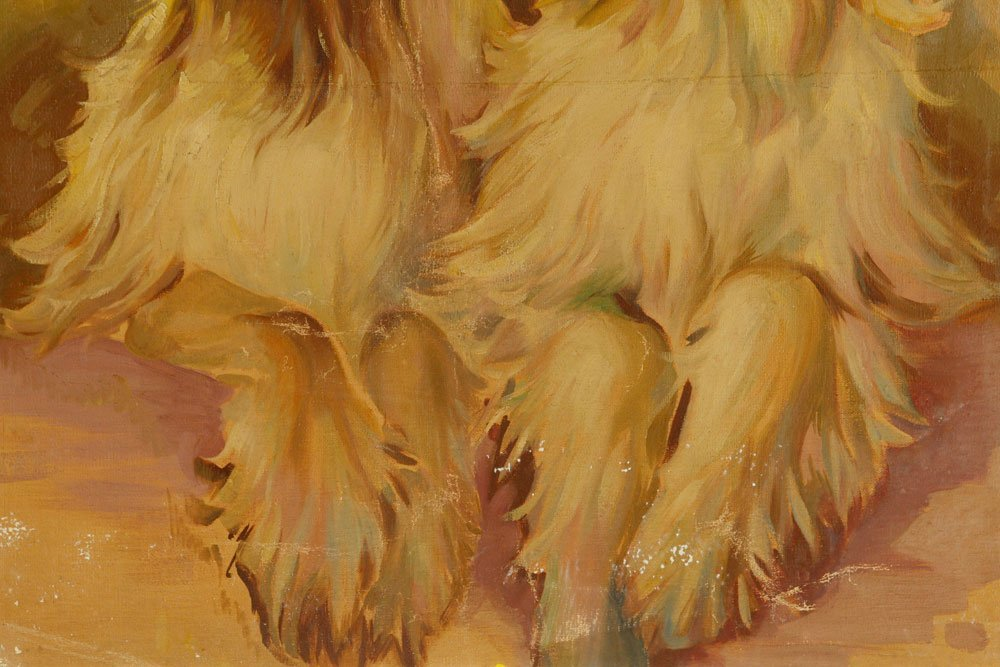 Two Hounds, Oil on Canvas - 3