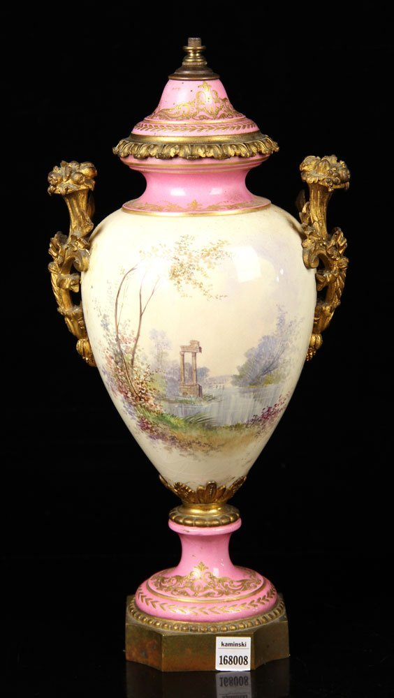 Sevres Porcelain Urn - 4