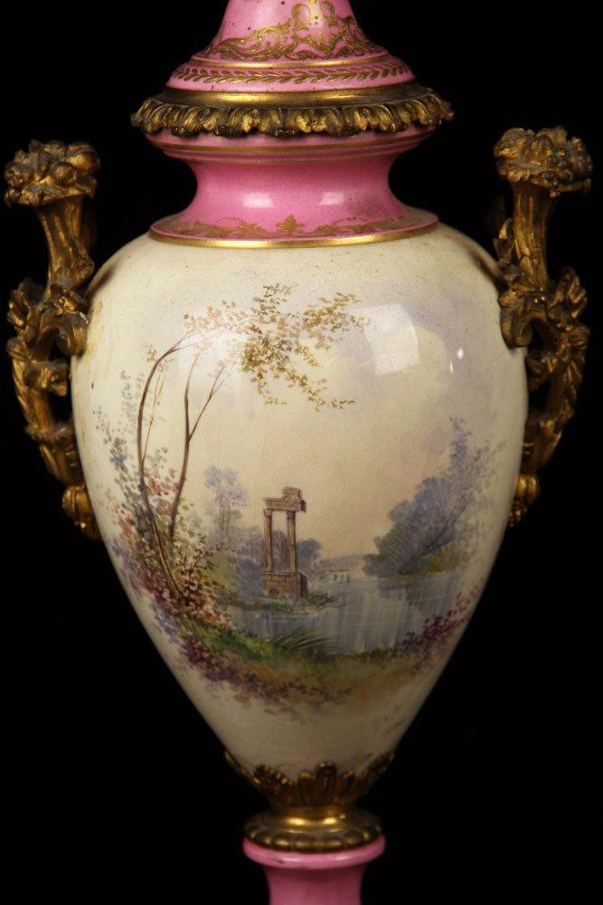 Sevres Porcelain Urn - 5