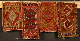 Four Antique Anatolian Rugs