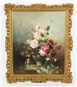 Kompoczi Balogh, Floral Still Life, Oil on Canvas