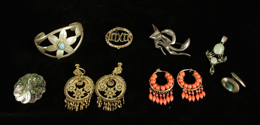 Lot of Sterling Silver and Costume Jewelry - 4