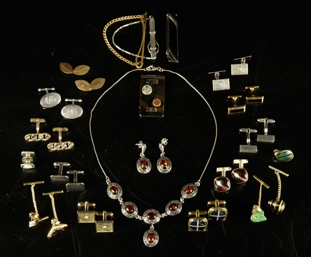 Sterling Silver and Amber Jewelry Suite