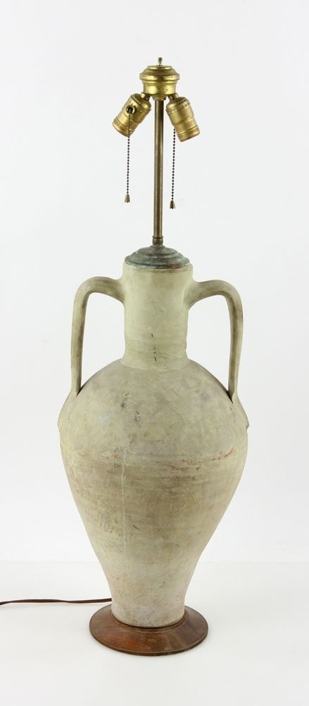 Urn Form Pottery Lamp