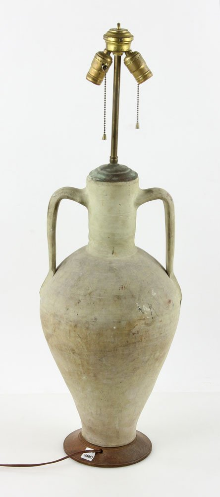 Urn Form Pottery Lamp - 2