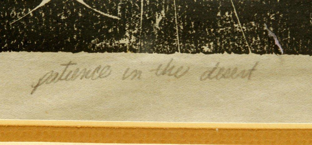 "Rhein, ""Patience in the Desert,"" Woodblock - 4"