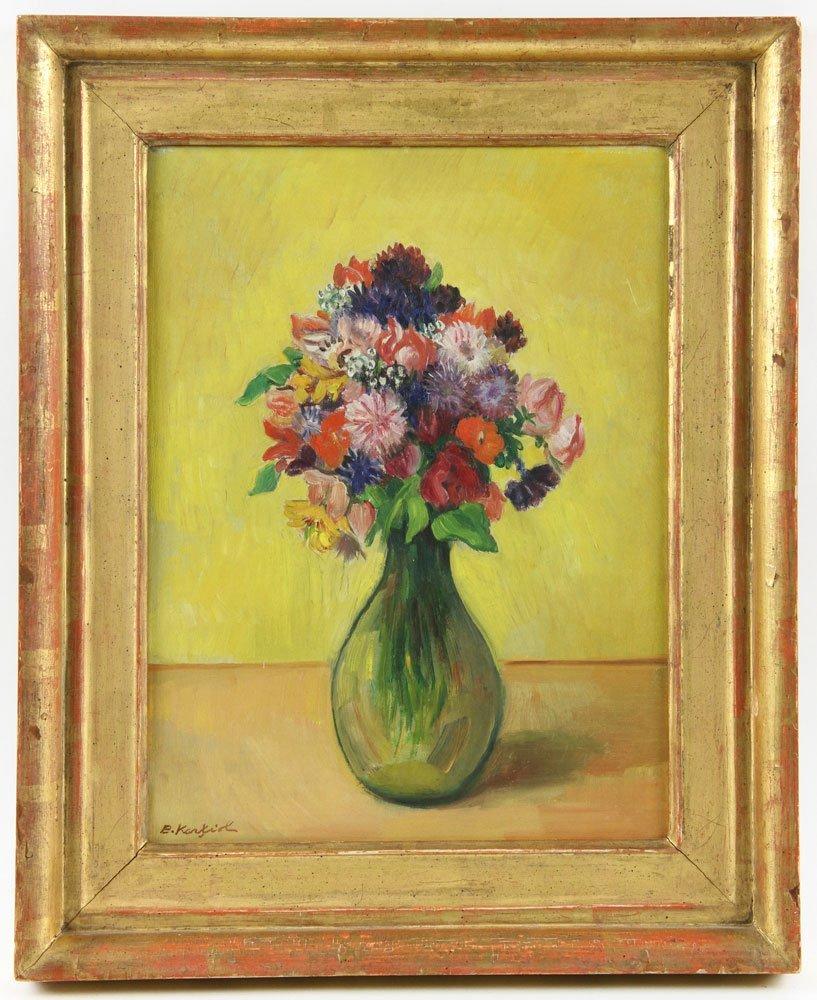 Karfiol (American, 1886-1952), Floral Still Life, Oil