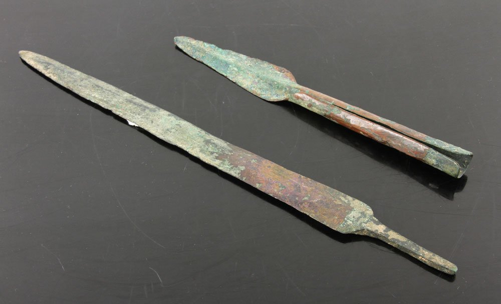 Two Ancient Middle Eastern Copper Weapons