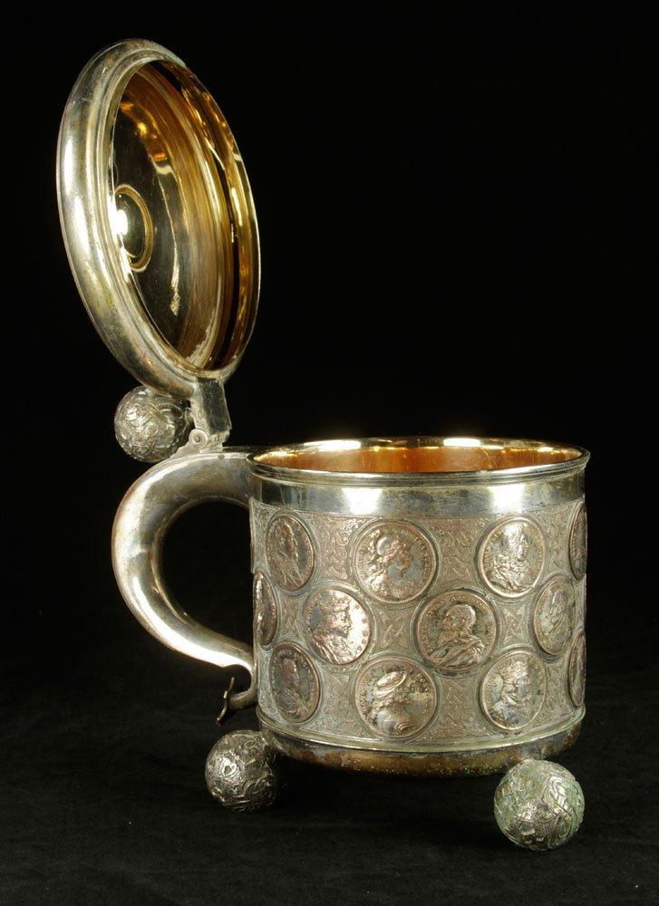 Oscar II Silver Plated Ceremonial Tankard - 2