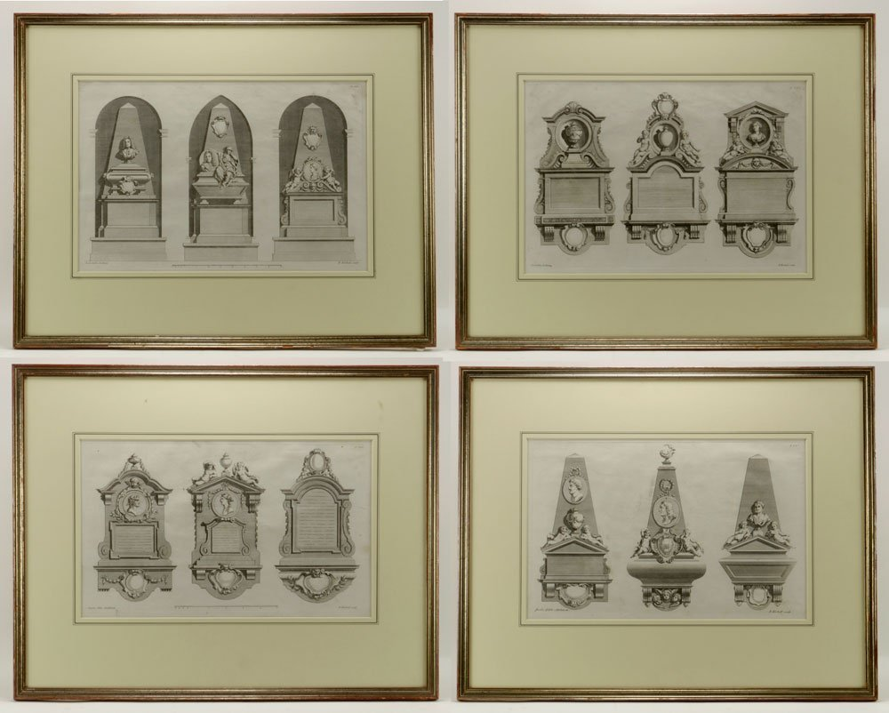 Gibbs, Four Classical Architectural Engravings