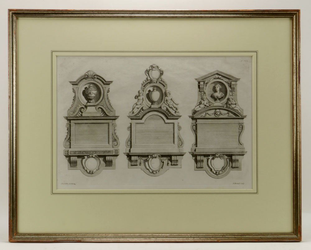 Gibbs, Four Classical Architectural Engravings - 3