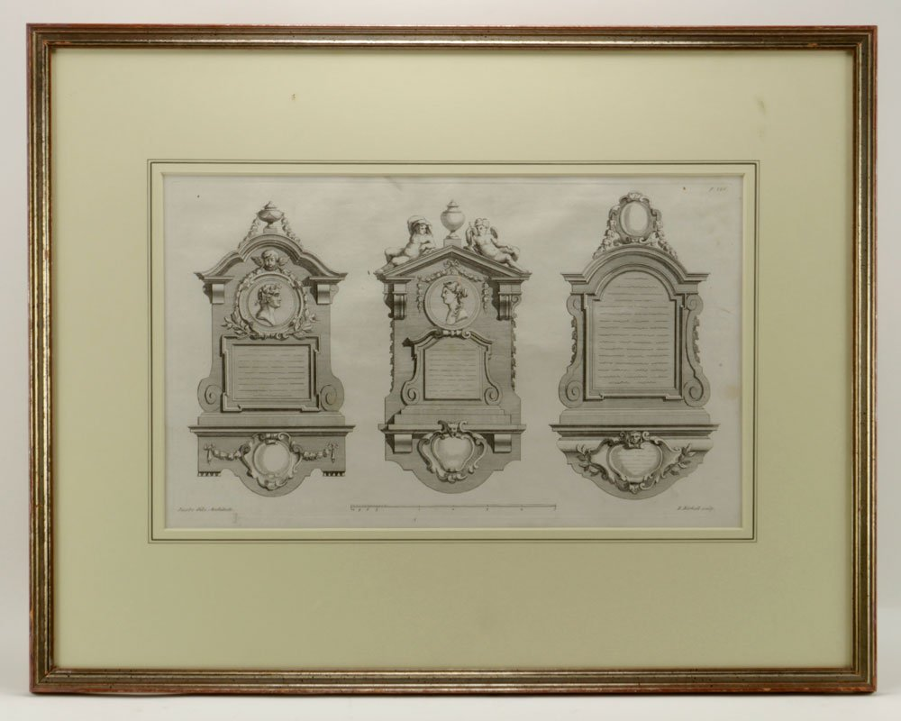 Gibbs, Four Classical Architectural Engravings - 4