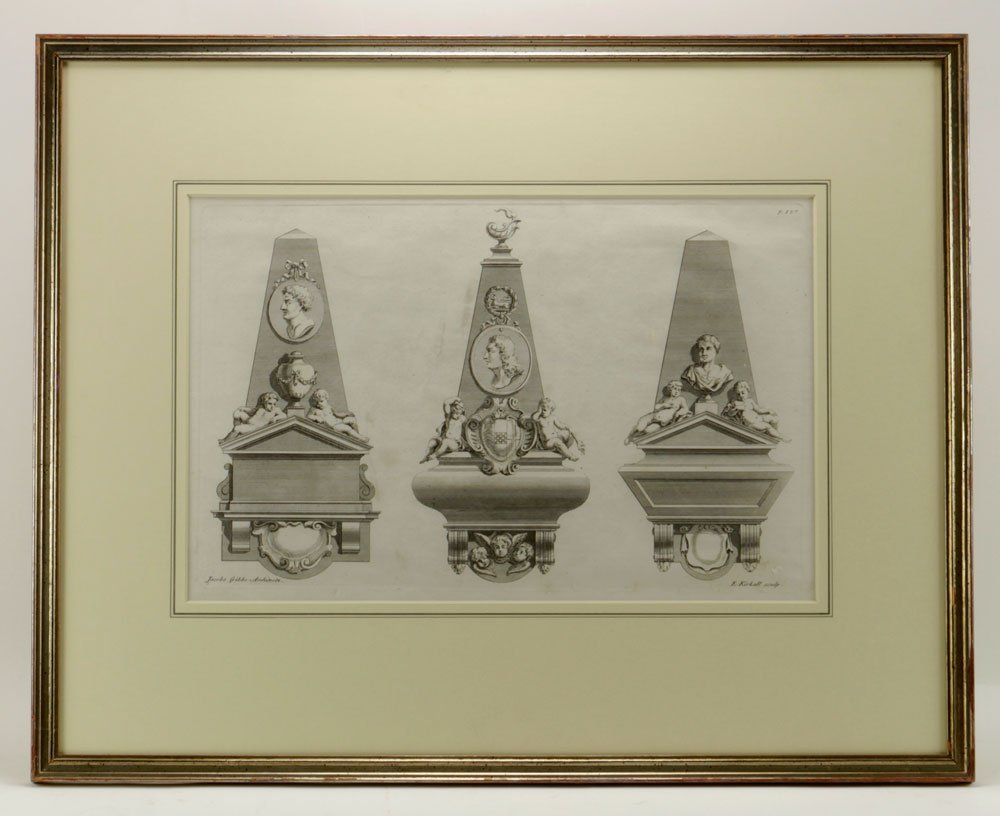 Gibbs, Four Classical Architectural Engravings - 5
