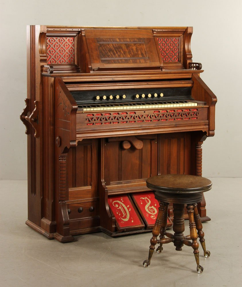 Kimball Victorian Walnut Pump Organ - 2