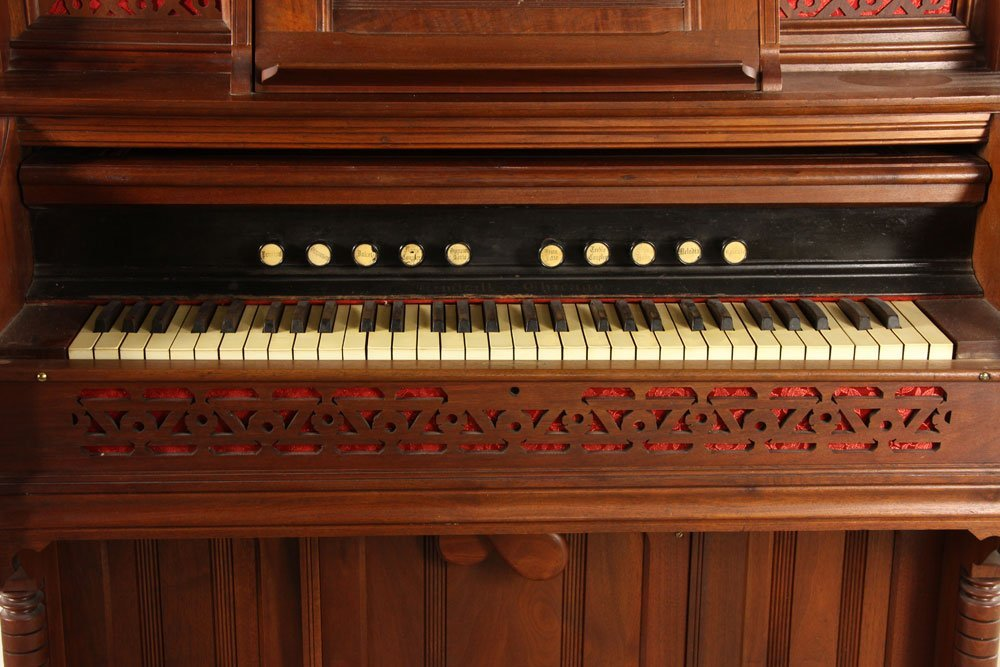Kimball Victorian Walnut Pump Organ - 3
