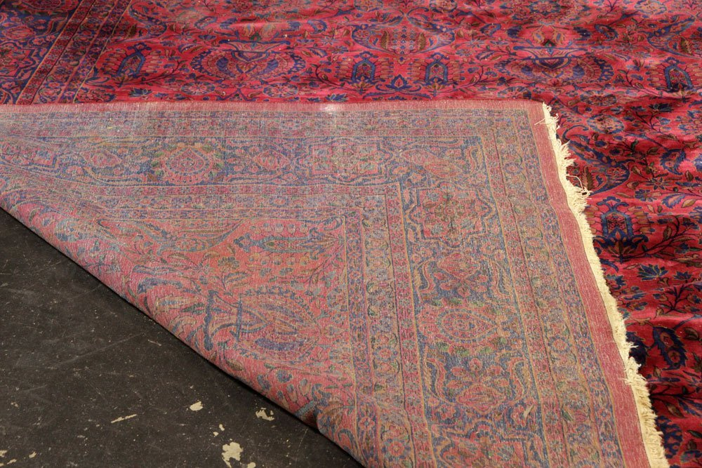 Antique Persian Kashan Carpet - 4