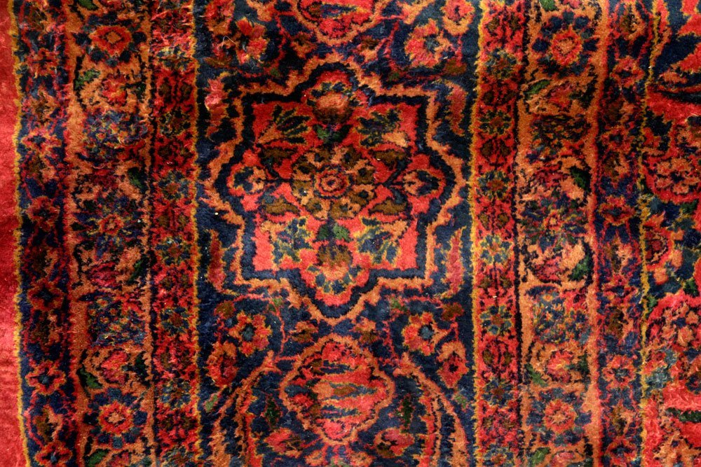 Antique Persian Kashan Carpet - 5